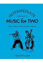 Intermediate Music for Two Volume 2 Flute or Oboe or Violin & Cello or Bassoon, 47002 Factory Second