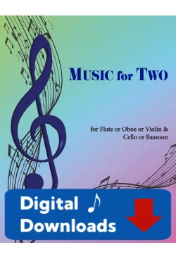 Music for Two - Flute or Oboe or Violin & Cello or Bassoon