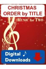 Music for Two Christmas - Flute or Oboe or Violin & Flute or Oboe or Violin - Choose a Mini-Set! Digital Download