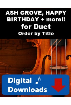 DUET SINGLES! Choose a Title - Ash Grove, Happy Birthday & much, much more! for Clarinet & Cello or Bassoon