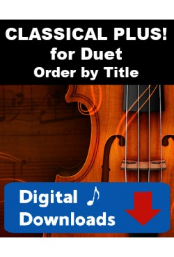 DUET SINGLES! Choose a Title - Classical Plus! for Flute or Oboe or Violin & Clarinet