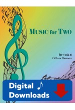 Music for Two - Viola & Cello or Bassoon - Choose a Volume! Digital Download