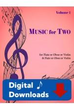 Music for Two - Flute or Oboe or Violin & Flute or Oboe or Violin - Choose a Volume! Digital Download