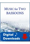 Music for Two Bassoons Volume 1 45031 Digital Download
