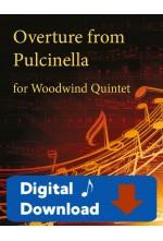 Overture from Pulcinella - Woodwind Quintet - 25004 Digital Download