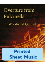 Overture from Pulcinella  -  Woodwind Quintet 25004