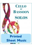 Cello or Bassoon - Solo Instrument & Keyboard - Choose a Title! Printed Sheet Music