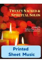 Twenty Sacred & Spiritual Solos - Violin or Flute or Oboe & Piano - 40009 - Print