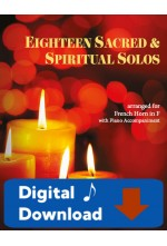 Eighteen Sacred & Spiritual Solos - French Horn & Piano - 40013- Digital Download