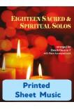 Eighteen Sacred & Spiritual Solos - French Horn & Piano - 40013 - Printed Sheet Music