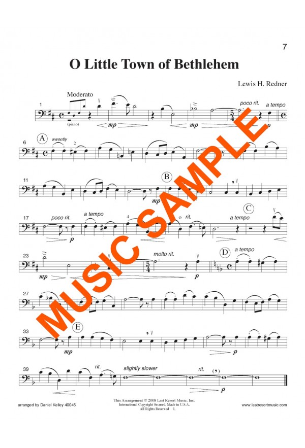 20 Intermediate Christmas Solos Cello Or Bassoon And Piano 40045