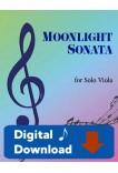 Moonlight Sonata for Solo Viola - 40060 Digital Download