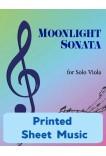 Moonlight Sonata for Solo Viola - 40060 Printed Sheet Music