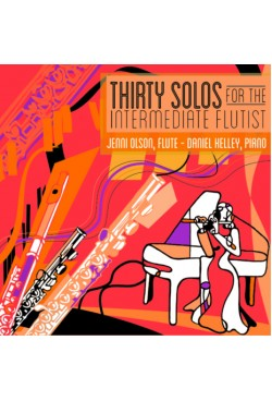 Thirty Solos for the Intermediate Flutist Flute and Piano 40008CD
