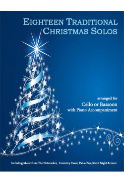 Eighteen Traditional Christmas Solos Cello or Bassoon and Piano 40038