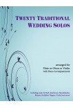 20 Traditional Wedding Solos - Violin or Flute or Oboe & Piano 40040